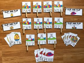Simple Math Centers for Easter