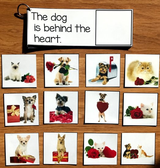 Valentine\'s Day Prepositions Activities w/Real Photos
