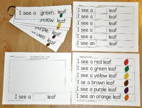 Fall Leaf Fluency Flipstrips Activities