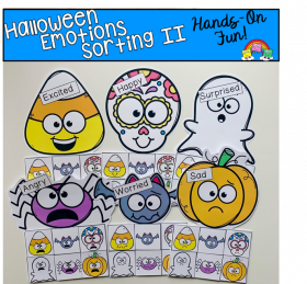 Halloween Emotions Sorting Mats 2