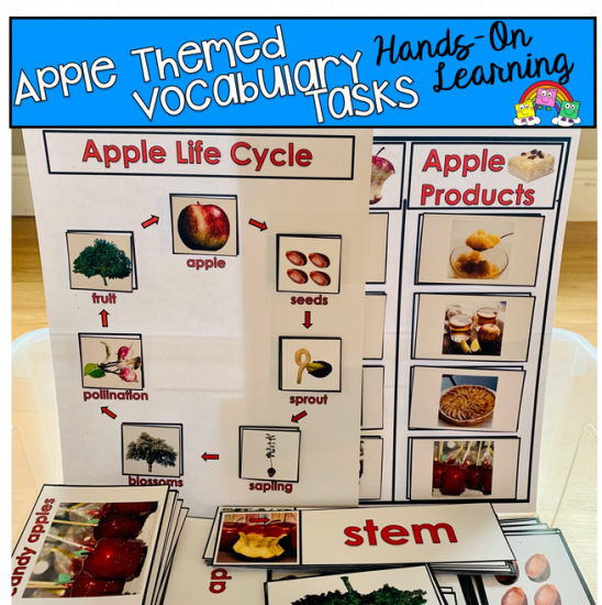 Apple Themed Vocabulary Tasks (w/Real Photos)