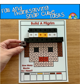 Fall And Thanksgiving Fine Motor Activities: Snap Cubes