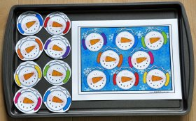Silly Snowmen Color Match Cookie Sheet Activity