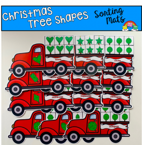 Christmas Tree Shapes Sorting Mats
