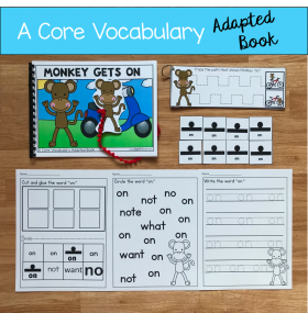 """Monkey Gets On"" (Working With Core Vocabulary)"