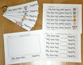 Candy Hearts Fluency Flipstrips Activities