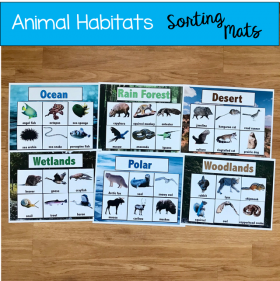 Animal Habitats Sorting Mats (w/Real Photos)