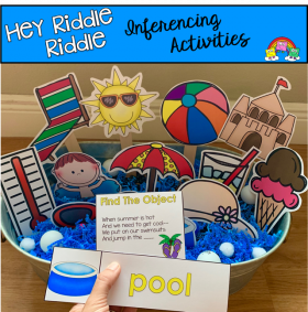 """Hey Riddle Riddle"" Summer Themed Activities For The Sensory Bin"