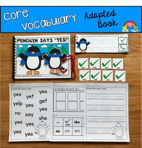 """Penguin Says Yes"" (Working With Core Vocabulary)"