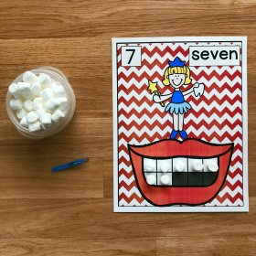 "Dental Health ""Marshmallow Teeth"" Math"