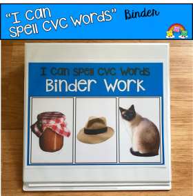 """I Can Spell CVC Words"" Binder Work (Short A Words)"