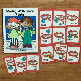 Dental Health Themed Movement Book (And Cards!)