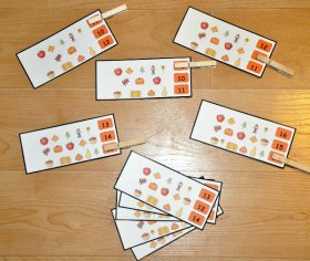 Counting Fall (Numbers 10-20 )Clothespin Task