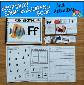 """Fish Starts With F"" (Beginning Sounds Adapted Book)"