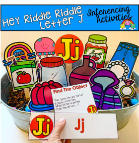 """Hey Riddle Riddle"" Letter J Activities For The Sensory Bin"