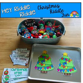 """Hey Riddle Riddle"" Christmas Riddles For The Sensory Bin"