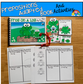 """Frog On A Log: Fly In The Sky!"" Prepositions Adapted Book"