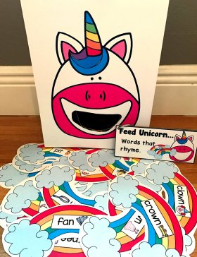 Sensory Bin Activities: Feed Unicorn Activities