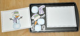 Build a Snowman II Cookie Sheet Activity