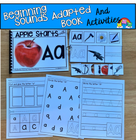 """Apple Starts With A"" (Beginning Sounds Book and Activities)"