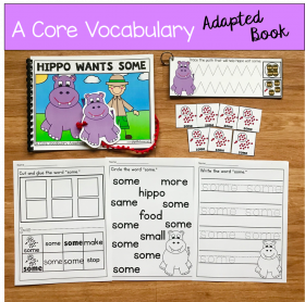"""Hippo Wants Some"" (Working With Core Vocabulary)"