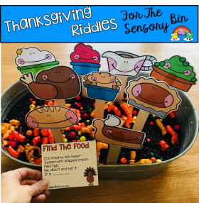 """Find The Food"" Thanksgiving Riddles and Visuals"