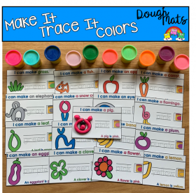 Colors Make It Trace It Fine Motor Activities