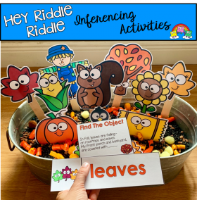 """Hey Riddle Riddle"" Fall Riddles For The Sensory bin"