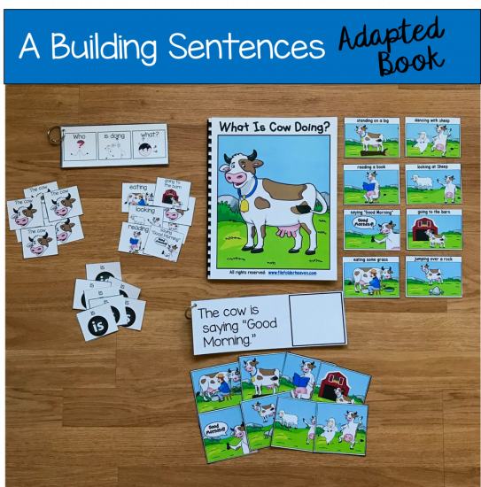 picture regarding Sentence Building Games Printable identified as Sentence Builder Reserve: What Is Cow Accomplishing? - $3.50 : History