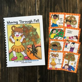 Fall Themed Movement Book (And Cards!)