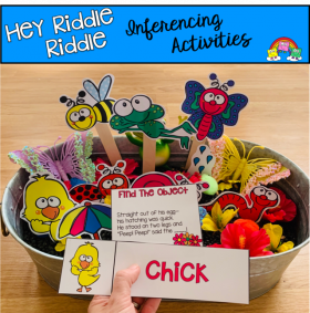"""Hey Riddle Riddle"" Spring Activities For The Sensory Bin"