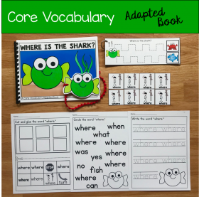 """Where Is The Shark?"" (Working With Core Vocabulary)"