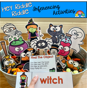 """Hey Riddle Riddle"" Halloween Activities For The Sensory Bin"