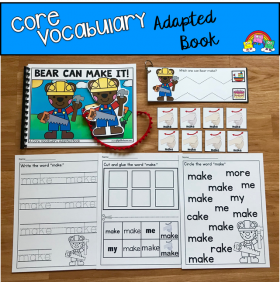 """Bear Can Make It!"" (Working With Core Vocabulary)"