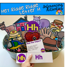 """Hey Riddle Riddle"" Letter H Activities For The Sensory Bin"