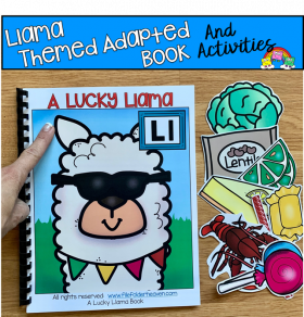 """A Lucky Llama"" Adapted Book And Activities"