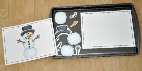 Build a Snowman III Cookie Sheet Actvity
