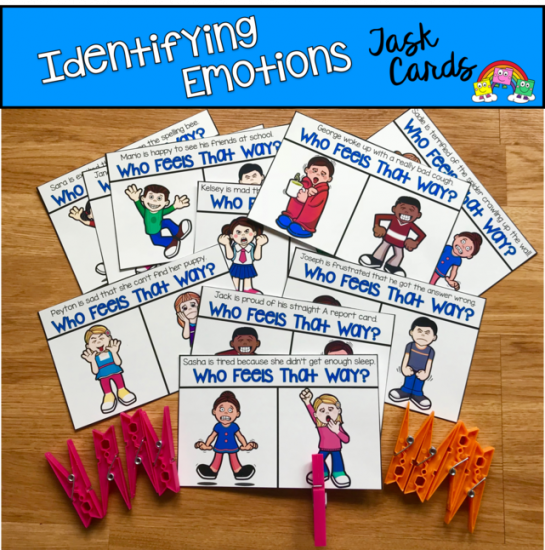 Identifying Emotions Task Cards