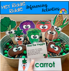 """Hey Riddle Riddle"" Vegetable Activities for The Sensory Bin"