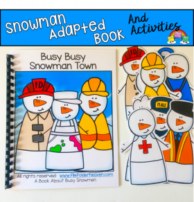 Snowman Adapted Book: Busy Busy Snowman Town