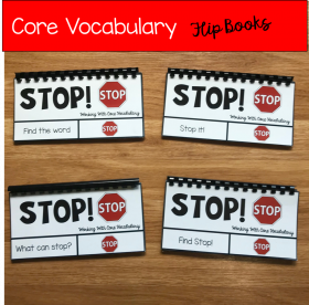 "Core Vocabulary Flip Books: ""Working With the Word Stop"""