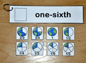 Earth Day Fraction Words Flip Strips