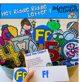 """Hey Riddle Riddle"" Letter F Activities For the Sensory Bin"
