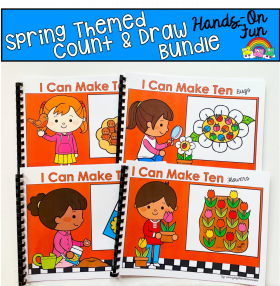 Spring Count And Draw Adapted Books Bundle