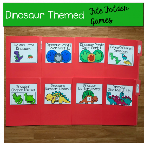 Dinosaur File Folder Games Mini-Bundle