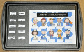 Label the Community Workers Cookie Sheet Activity