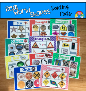 Real World Shapes Sorting Mats (w/Real Photos)