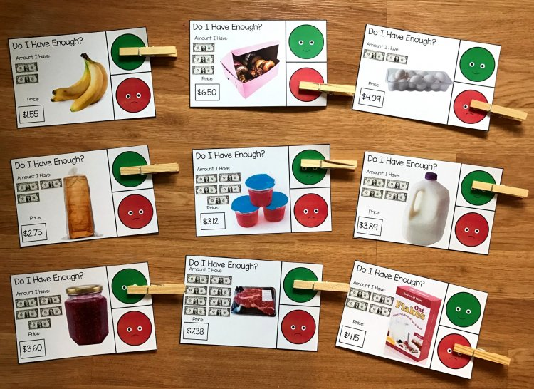 Grocery Store Task Cards (w/Real Photos)