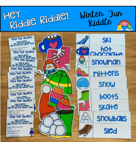 """Hey Riddle Riddle"" Winter Activities For The Sensory Bin"