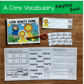 """Lion Wants More"" (Working With Core Vocabulary)"